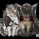Viking Bunnies Loki and Odin by Miss Cherry  Martini
