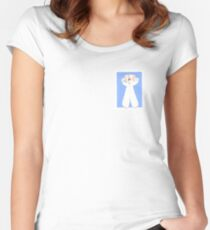 Blue Hair I Don't Care Women's Fitted Scoop T-Shirt