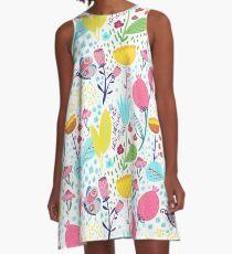 Funky Flowers A-Line Dress