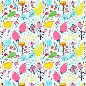 Funky Flowers by Tessa-Rath