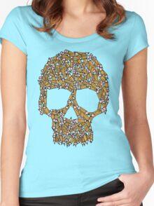 Create Or Die T-shirt femme moulant à col profond