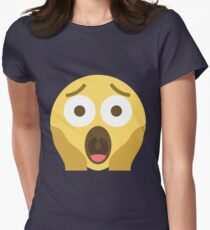 Scared Emoji Womens Fitted T-Shirt