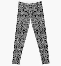 Cyberpunk Silver Print Pattern  Leggings