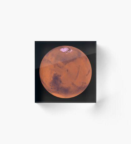 Planet Mars Acrylblock
