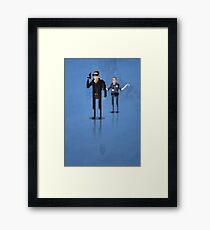 8-Bit TV Terminator Framed Print