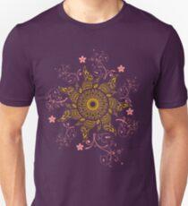Mandala Gold Flower Unisex T-Shirt