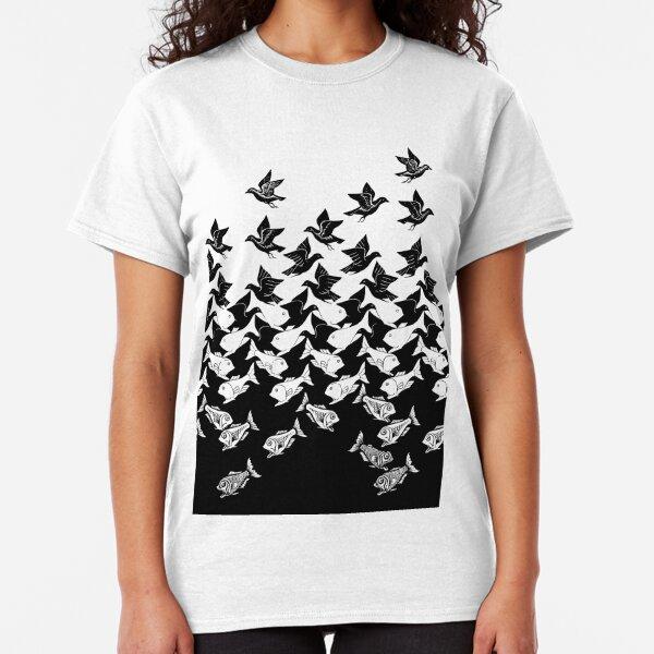 Fish and Birds Art Deco Tessellation Classic T-Shirt