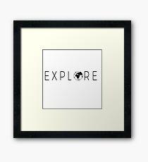 Explore Globe Framed Print