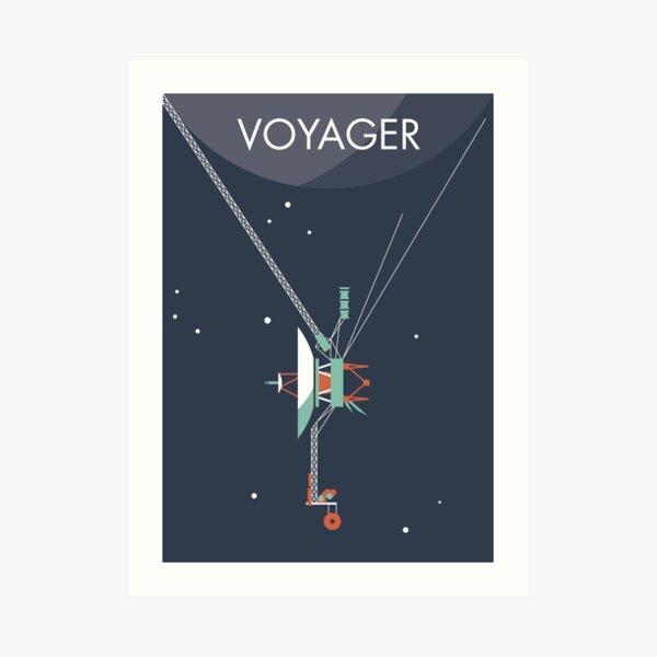 Voyager program space probe Art Print