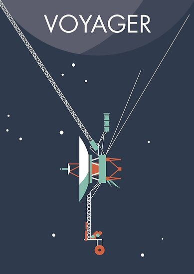 """""""Voyager program space probe"""" Poster by spacewalkwithme ..."""