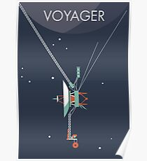 Voyager program space probe Poster