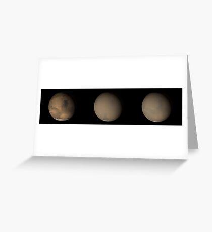 Die großen Staubstürme 2001 auf dem Mars. Grußkarte