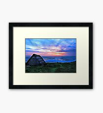 Celtic Beach Hut Framed Print