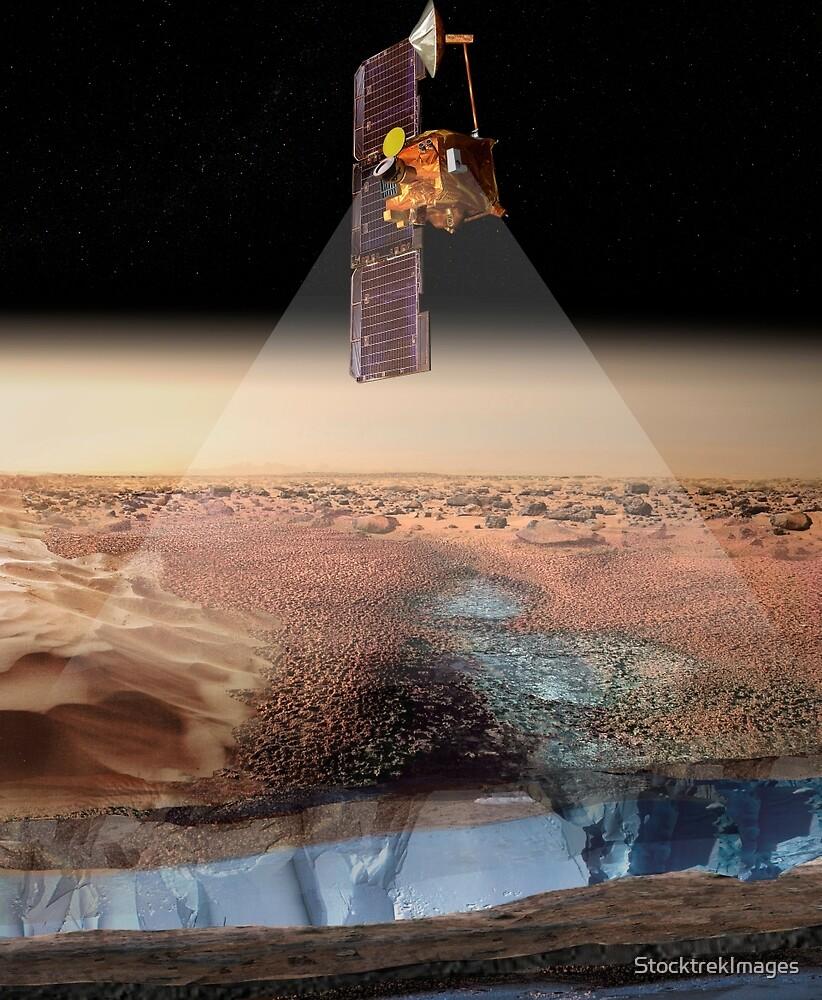 Ansicht des Künstlers von Odyssey, das Eis ermittelt. von StocktrekImages