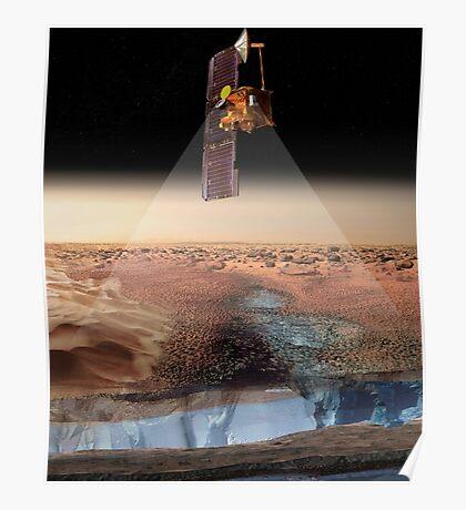 Ansicht des Künstlers von Odyssey, das Eis ermittelt. Poster