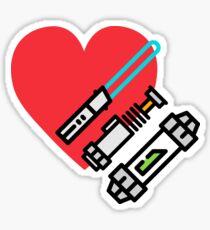Love lightsaber Sticker