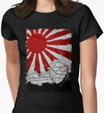 Japanese Palace and Sun Womens Fitted T-Shirt