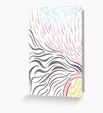 Abstract Fire Bender Princess Greeting Card