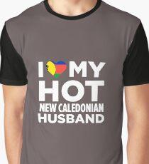 Camiseta gráfica Amo a mi nuevo marido de Caledonia