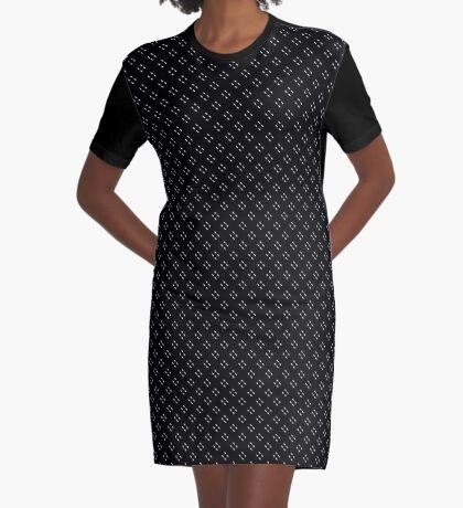 Tiny Black Polka Dots Graphic T-Shirt Dress