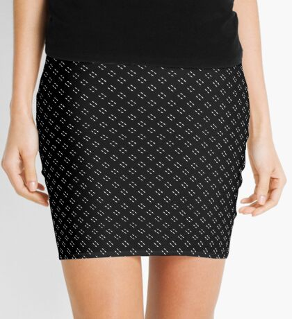 Tiny Black Polka Dots Mini Skirt