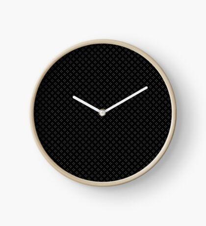 Tiny Black Polka Dots Clock