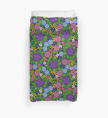 Wild Wildflowers Duvet Cover