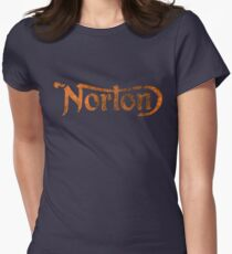NORTON VINTAGE FADED LOGO Womens Fitted T-Shirt