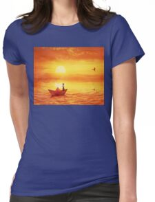 paper boat Womens Fitted T-Shirt