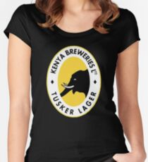 Tusker Lager Logo Women's Fitted Scoop T-Shirt
