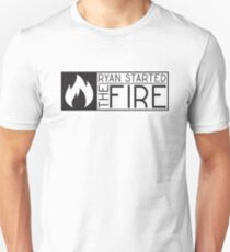 the office tv show lyrics funny ryan started the fire t shirts T-Shirt