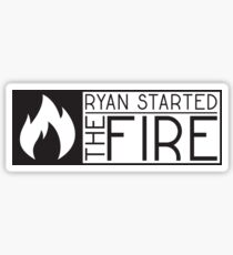 the office tv show lyrics funny ryan started the fire t shirts Sticker