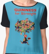 Guinness Vintage Rugby Ad Women's Chiffon Top