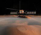 Künstlerisches Konzept der Mars Express-Raumsonde im Orbit um den Mars. von StocktrekImages