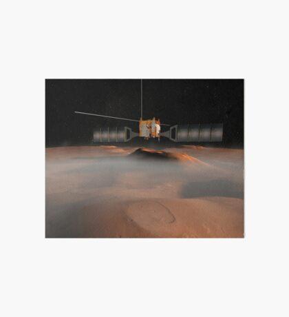 Künstlerisches Konzept der Mars Express-Raumsonde im Orbit um den Mars. Galeriedruck