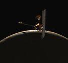 Mars Odyssey-Raumfahrzeug über Mars-Sonnenaufgang. von StocktrekImages