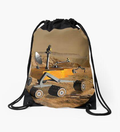 Mars Science Laboratory reist in der Nähe einer Schlucht auf dem Mars. Turnbeutel