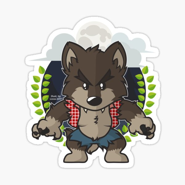 The night of the werewolf Sticker