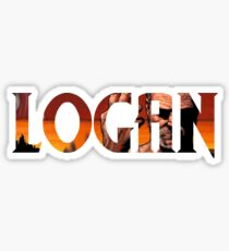 Logan 2017 (Comic Name) Sticker