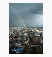 Rainbow Over East Vancouver Photographic Print