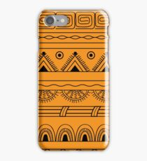 yellow aztec pattern iPhone Case/Skin