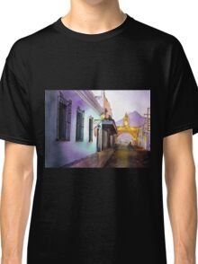 Antigua Guatemala Watercolor Painting Classic T-Shirt