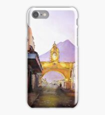 Antigua Guatemala Watercolor Painting iPhone Case/Skin
