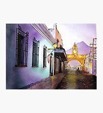 Antigua Guatemala Watercolor Painting Photographic Print