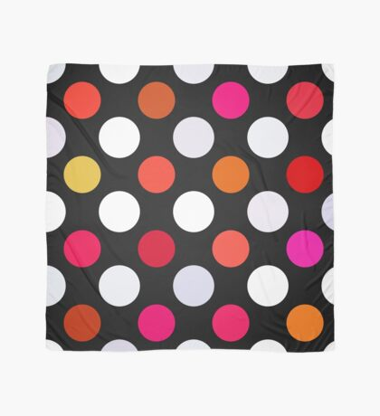 Retro Dots in Shades of Red Scarf