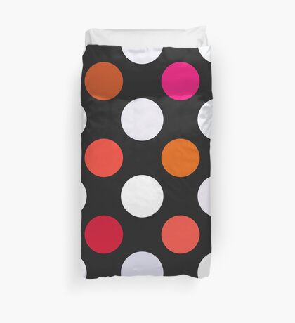 Retro Dots in Shades of Red Duvet Cover