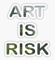 Art is risk - troye sivan Sticker