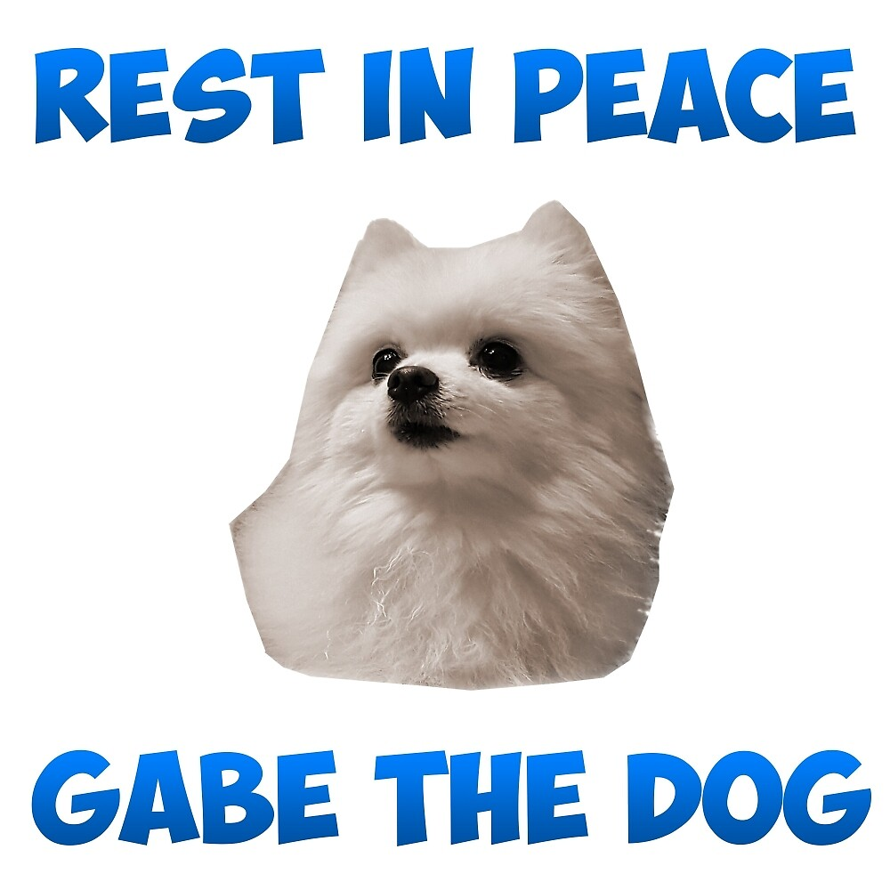 Quot Rip Gabe The Dog Quot By Random Stuffz Redbubble