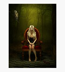 Magical red chair Photographic Print