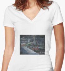 Sir Walter Scott Women's Fitted V-Neck T-Shirt